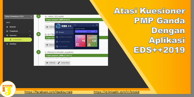 Atasi Kuesioner PMP Ganda Dengan Aplikasi EDS++