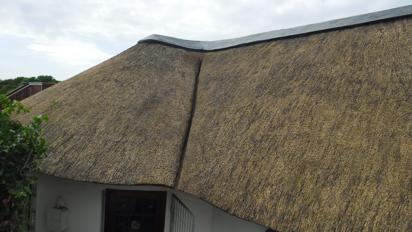 Thatched Roof Maintenance Explained Brushing A Thatch Roof
