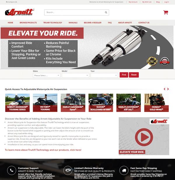 American Motorcycle Design: Arnott Air Suspension
