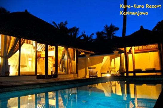 kolam renang villa kura kura resort karimunjawa