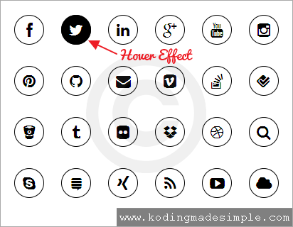 black-and-white-round-social-media-icons