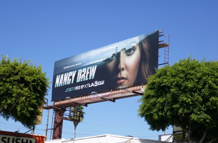 Nancy Drew 2019 TV series billboard