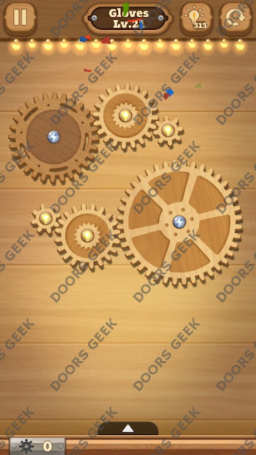 Fix it: Gear Puzzle [Gloves] Level 21 Solution, Cheats, Walkthrough for Android, iPhone, iPad and iPod