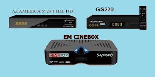 Resultado de imagem para AZAMÉRICA S928 TRANSFORMADO EM CINEBOX SUPREMO HD