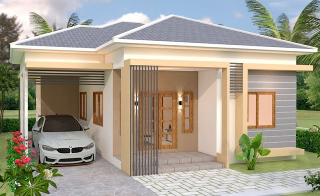 desain rumah mewah 1 lantai 4 kamar tidur