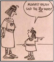 Funny History Joke Cartoon Image Mummy Egyptian
