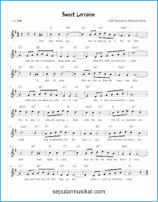 sweet lorraine lagu jazz standar