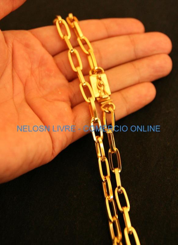 4300815f611 AURORA JÓIAS  Corrente cordão cartier 6mm 70cm
