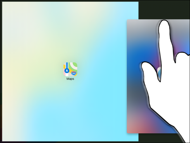 الانتقال من Slide Over إلى Split View على iPad