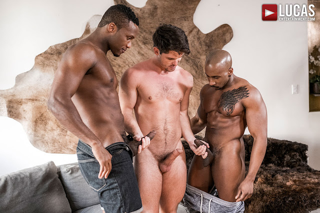 LucasEntertainment - HUNG BLACK STUDS ANDRE DONOVAN AND MAX KONNOR SPIT ROAST DEVIN FRANCO