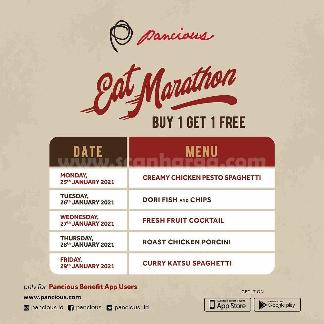 Pancious Eat Marathon – Beli 1 Gratis 1 untuk 5 Menu