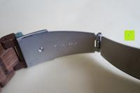 Verschluss Seite: Holz Armbanduhr 360° Nut