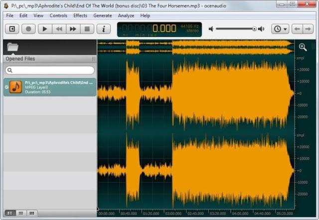 Download Ocenaudio Editor Free