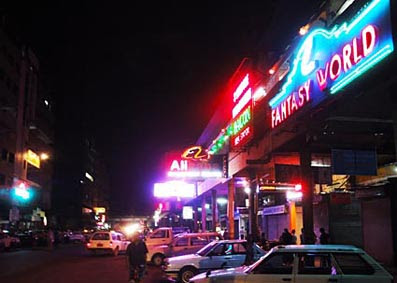 Yangon Theingyi Zay and some bars and clubs