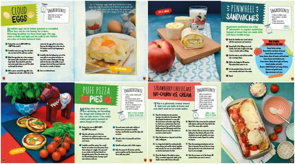 Recipe pages from Living on the Veg