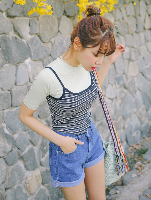 Horizontal Striped Tank Top