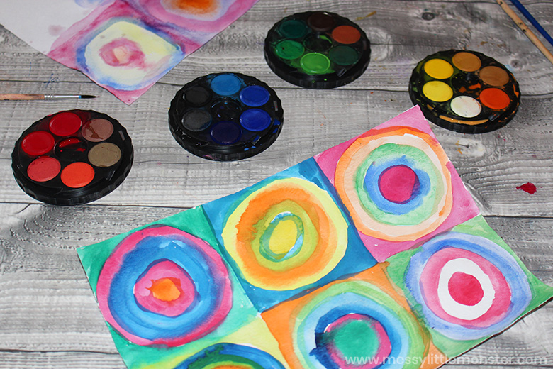 Kandinsky circles art for kids