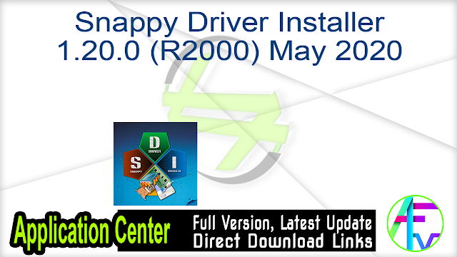 Snappy Driver Installer 1.20.0 (R2000) May 2020