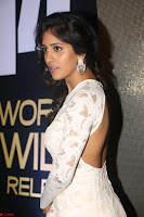 Chandini Chowdary in white Tight dress at Shamanthakamani pre release function ~  Exclusive 043.JPG