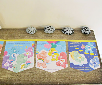 care bears bunting for kids party supplies birthday party nursery domum vindemia