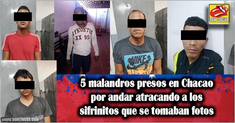 5 malandros presos en Chacao por andar atracando a los sifrinitos que se tomaban fotos