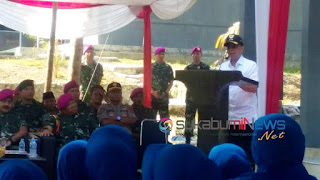 Wakil Wali Kota Sukabumi di acara HUT Korps Marinir ke-74