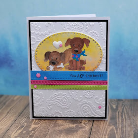You ARF the best by Vanessa features Puppy Playtime by Newton's Nook Designs; #inkypaws, #newtonsnook, #dogcards, #cardmaking