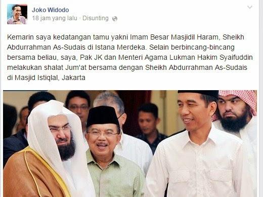 Misteri Imam Besar Masjidil Haram Bertemu Jokowi