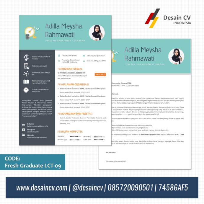 Desain cv kreatif template cv kreatif format ms word untuk fresh graduate yelopaper Images