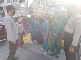 Tekan Covid-19, Unit Binmas Polsek Soeta Berikan Imbauan ke Warga Terkait Prokes