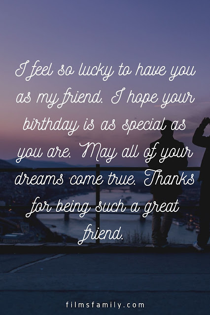Birthday wishes for a friend with an image