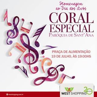 West Shopping homenageia os avós com apresentação gratuita do coral da Paróquia de Sant'Ana