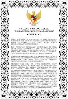 Teks Undang-Undang Dasar Negara Republik Indonesia 1945
