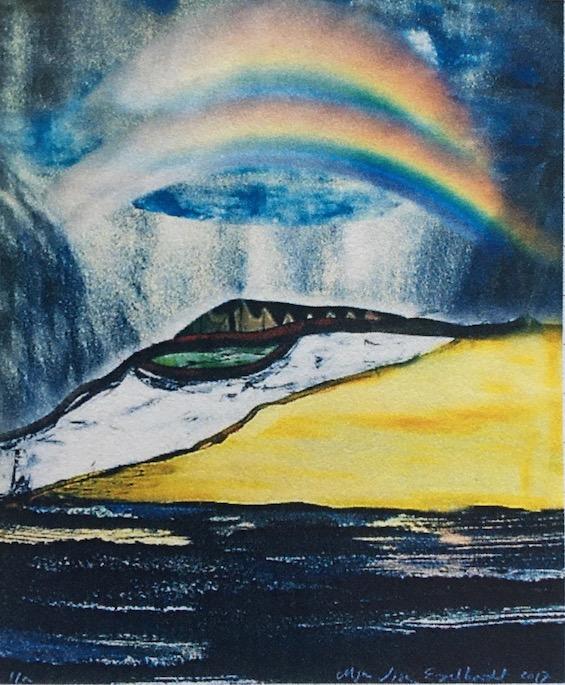 Maja Lisa Engelhardt, litografi fra Skabelsen