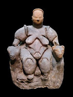 Cybele or Kybele as a Mother Goddess Sculpture from Paleolithic Age.