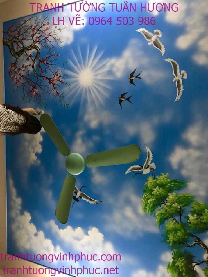 vẽ trần mây giá rẻ tại xuân hòa phúc yên