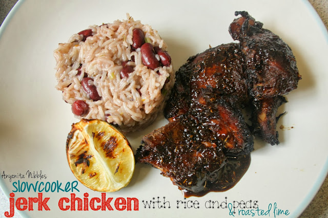 Sticky jerk chicken cooked ina slowcooker from Anyonita-nibbles.co.uk