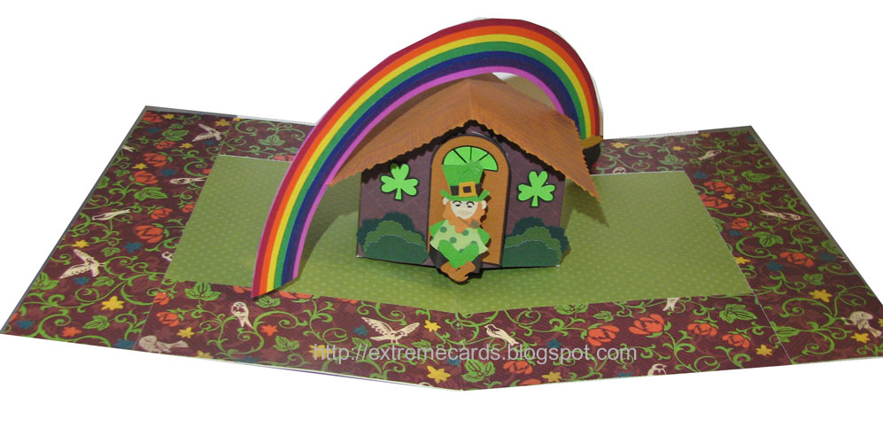 Leprechaun Pop Up House Tutorial