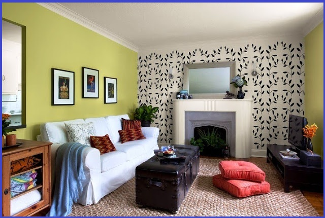 two colour combination for living room