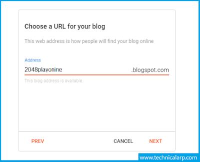 Create Blogger Website for 2048 Game