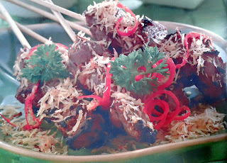 Gambar Resep Sate Daging Sapi Bumbu Serundeng