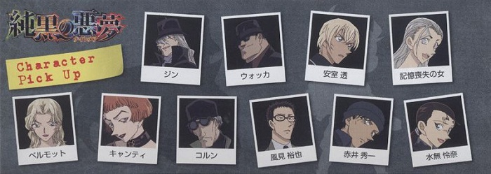 Detective Conan: The Darkest Nightmare Characters