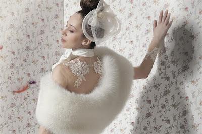 stola pelliccia sposa
