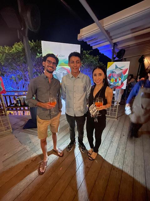 Rafa Martín del Campo, Jalil Estela y Cynthia del Rivero.