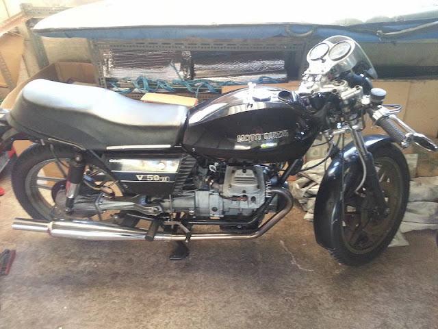 [Dự án độ] Moto Guzzi V50 đời 1982 lên nhẹ Cafe Racer