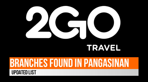 LIST: Pangasinan 2GO Outlets/Branches 2020