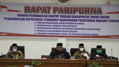 DPRD Tanah Datar Setujui 5 Ranperda Dijadikan Perda