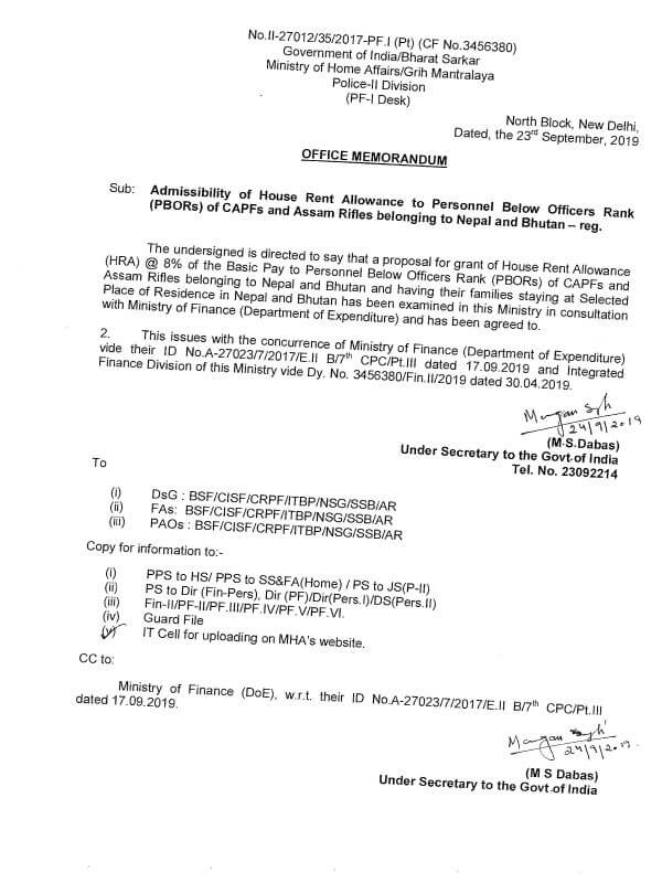 hra-to-pobr-of-capf-belonging-to-nepal-bhutan-mha-order-paramnews