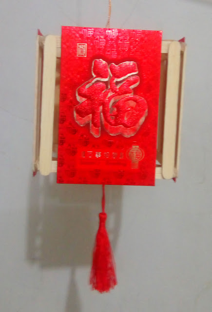 Lampion Kertas Angpau Stik Es Krim Tahun Tikus Logam