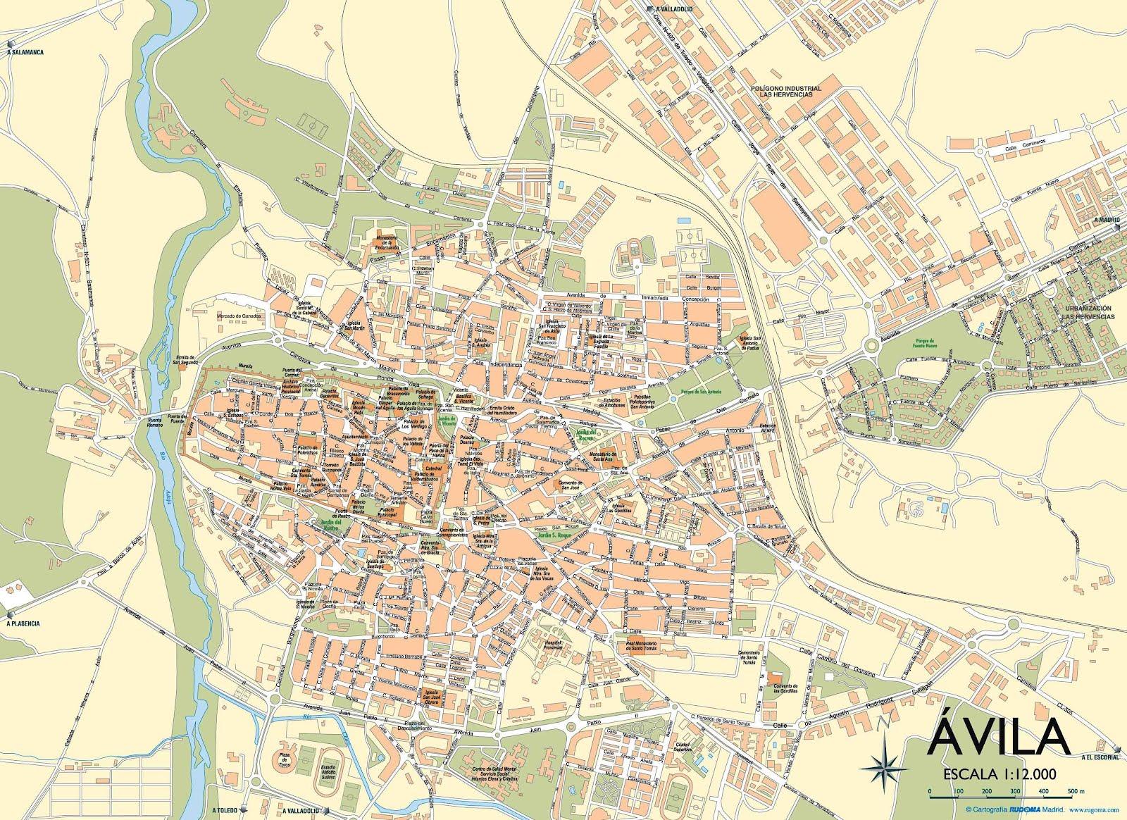 avila espanha mapa Mapas de Avila   Espanha | MapasBlog avila espanha mapa